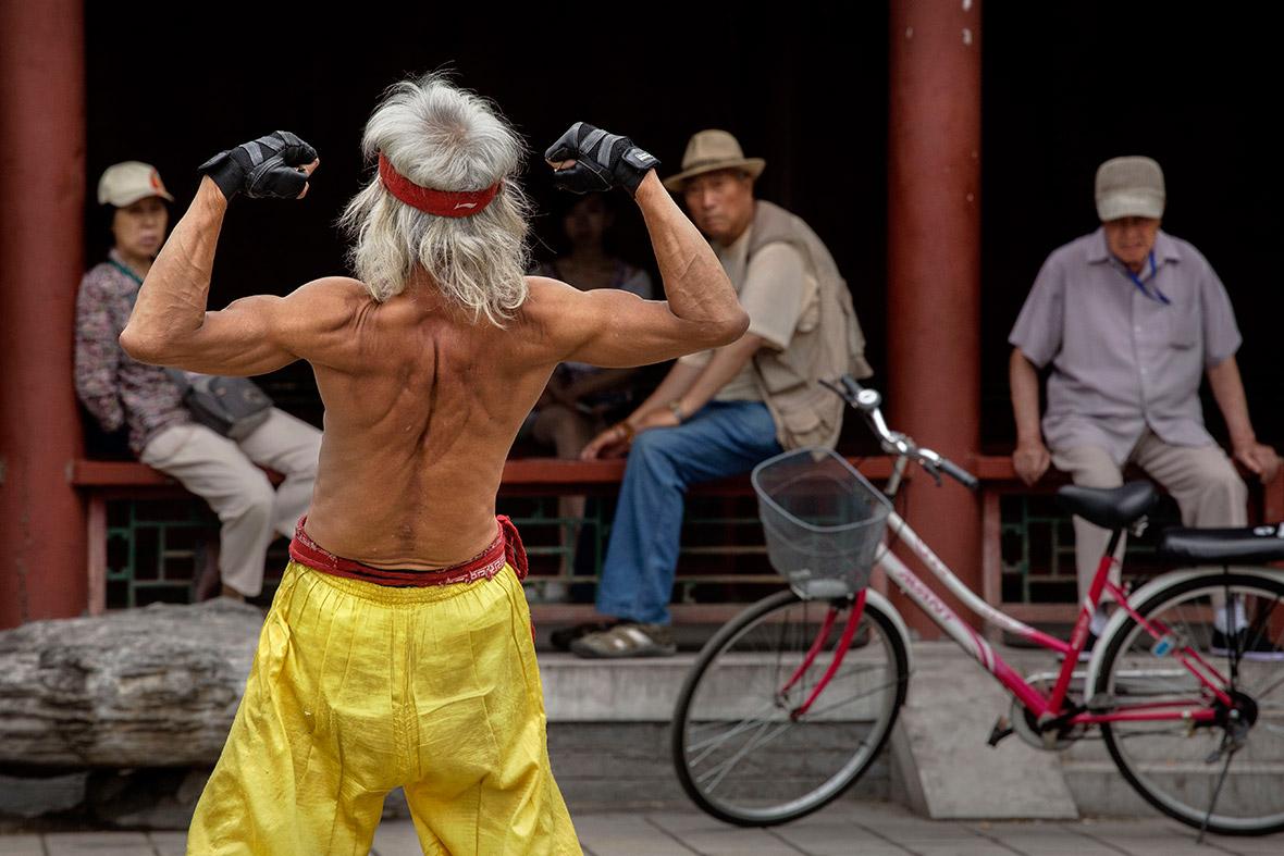 elderly man muscles