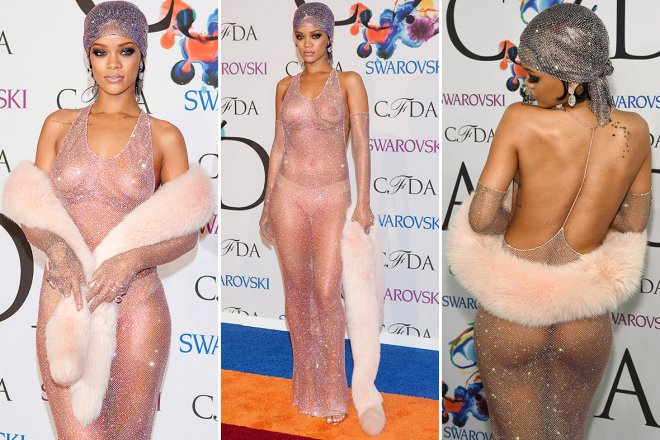 Rihanna see through dress