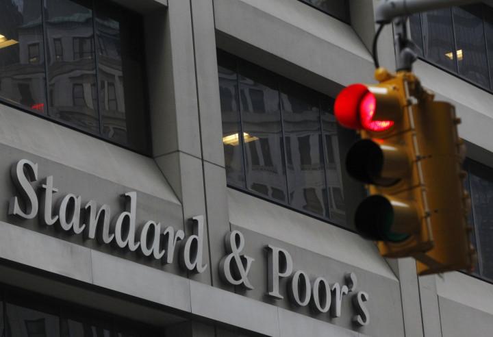 Standard & Poor's building in New York's financial district