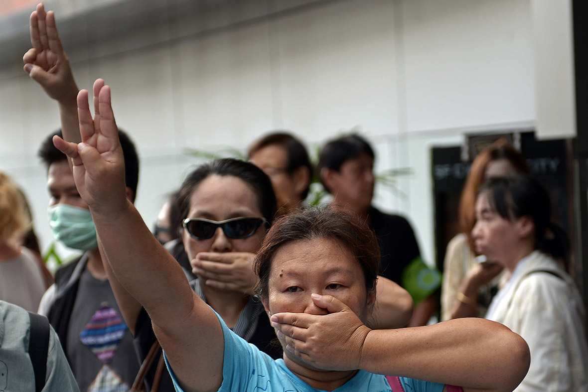 Thailand three fingers salute hunger games