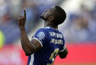 Porto\'s Jackson Martinez celebrates his goal against Benfica during their Portuguese Premier League soccer match at Dragao stadium in Porto May 10, 2014.