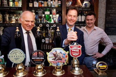 nick clegg beer pub