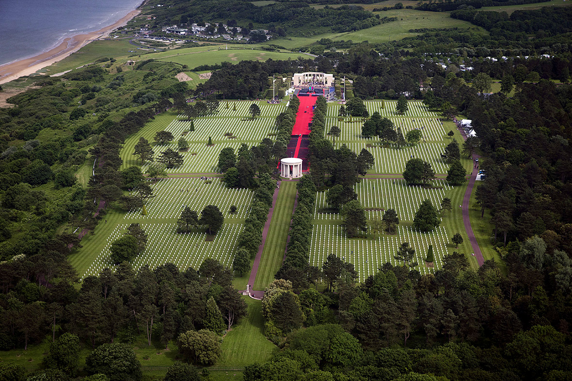 D-Day American cemetery aerial