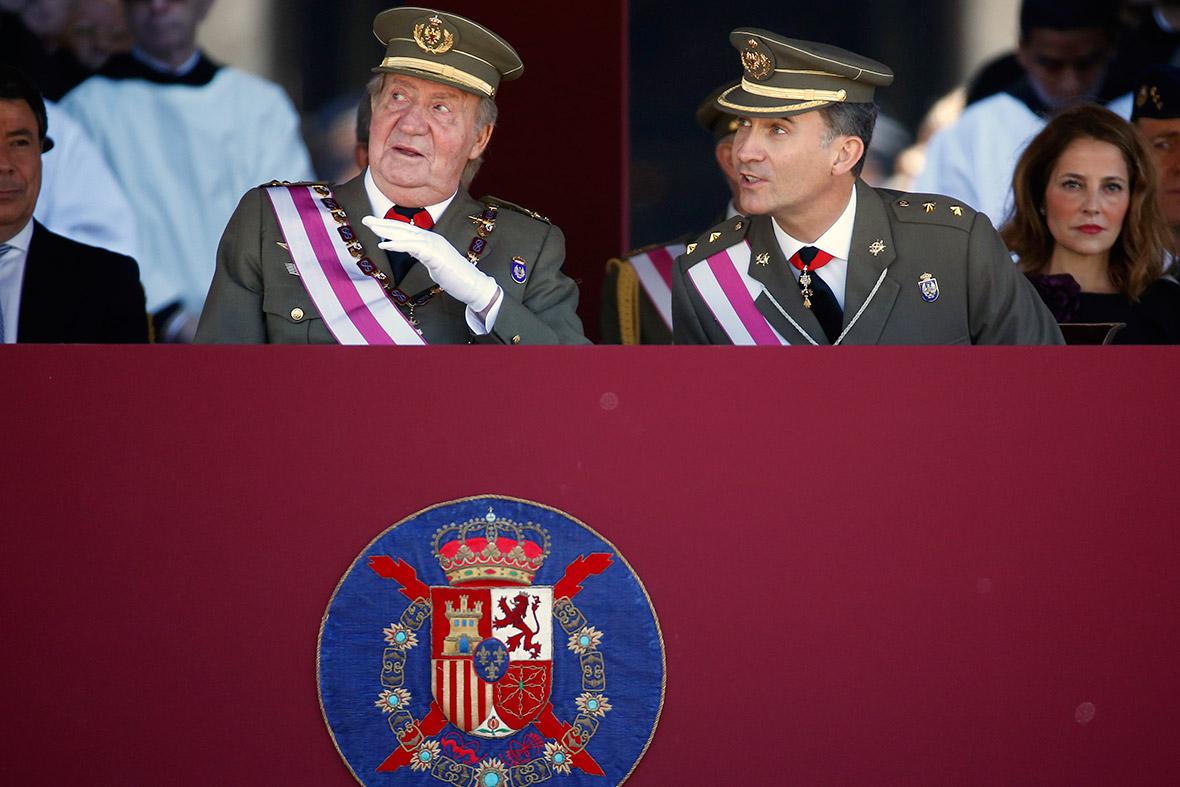 King Juan Carlos I of Spain felipe
