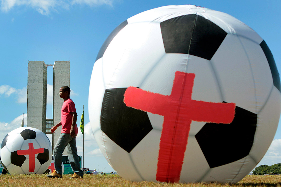 world cup ball protests
