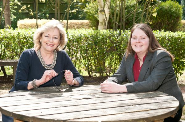 Kent Crime Commissioner Ann Barnes and Kerry Boyd