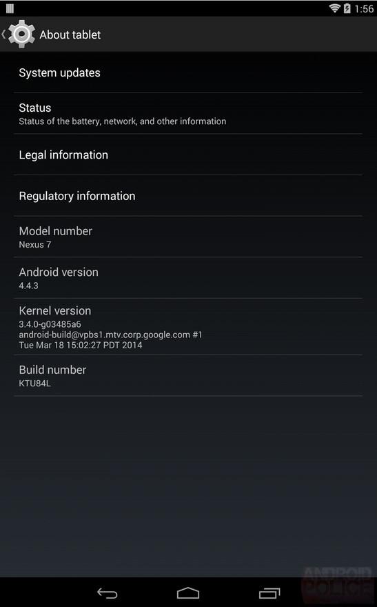 Android 4.4.3 KTU84L KitKat