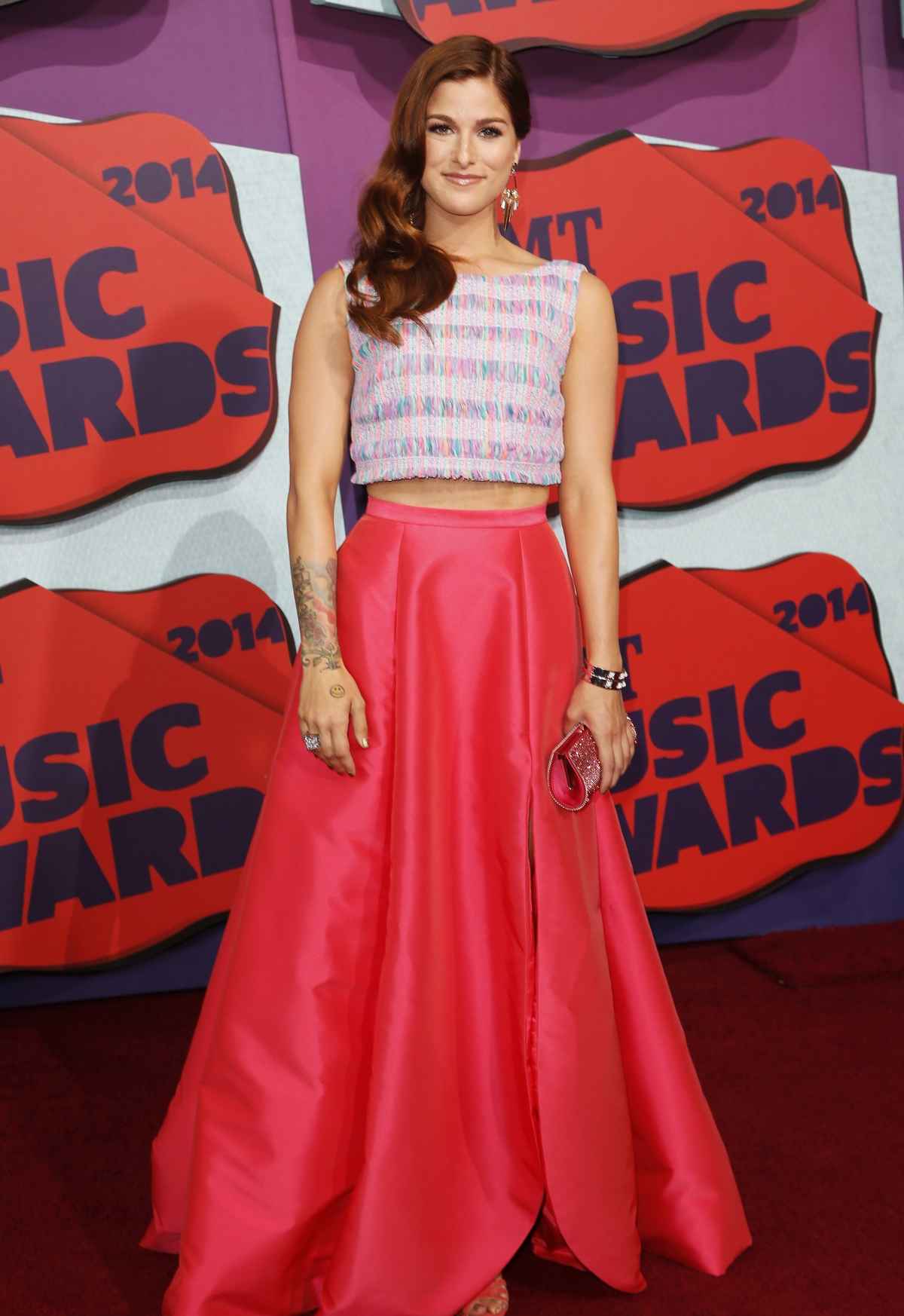 Musician Cassadee Pope arrives at the 2014 CMT Music Awards in Nashville, Tennessee June 4, 2014.