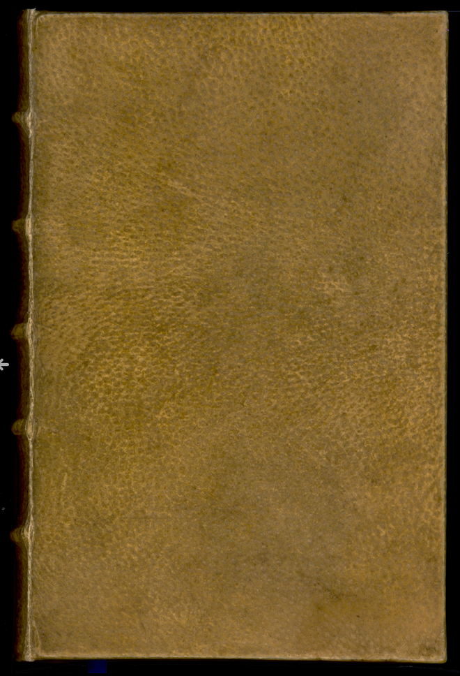 Human Skin Bound Copy of Des destinées de l'ame at Harvard university