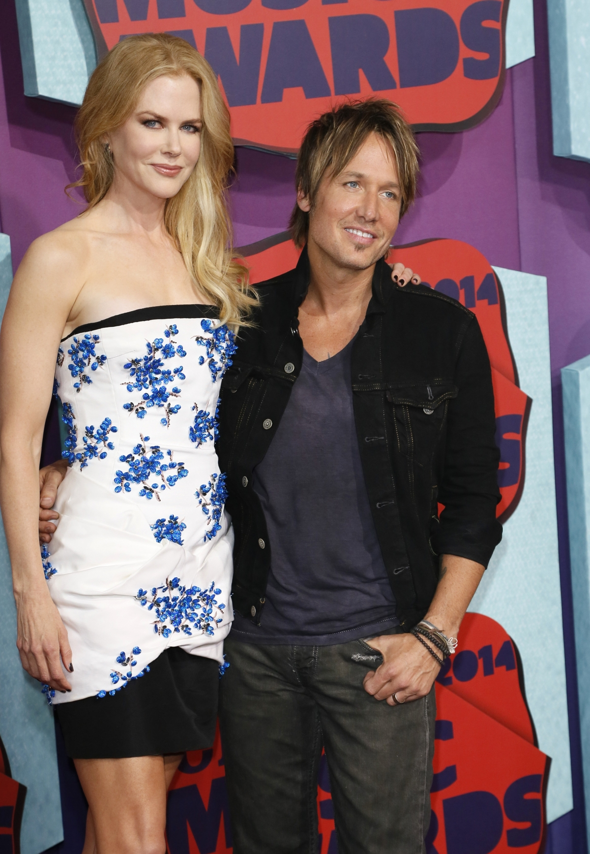 Actress Nicole Kidman and her husband, musician Keith Urban, arrive at the 2014 CMT Music Awards in Nashville, Tennessee.