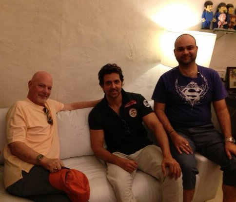 Hrithik Roshan with Rob Cohen (L)