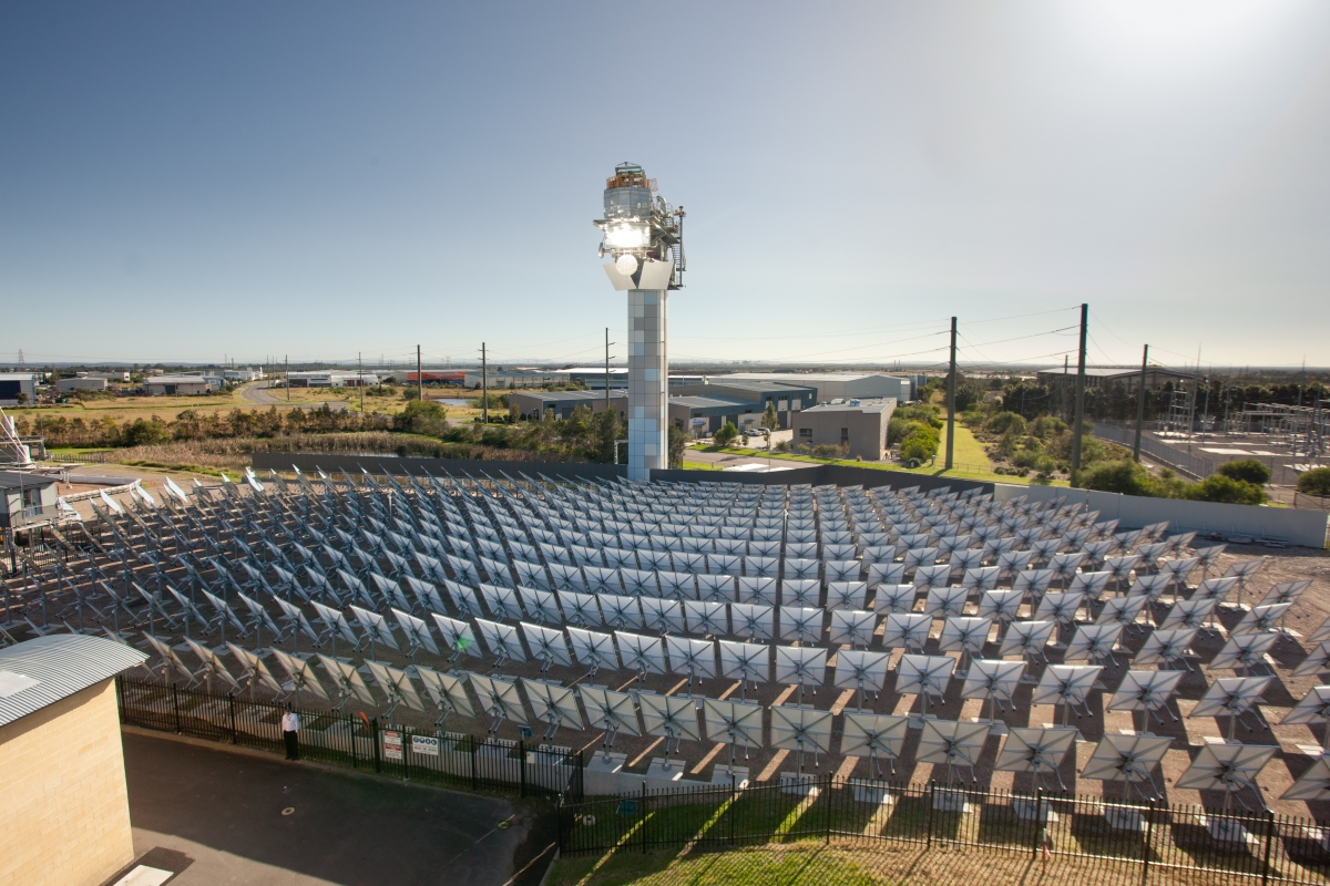 CSIRO Solar tower 2 in operation.