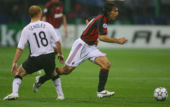 Paul Scholes and Andrea Pirlo