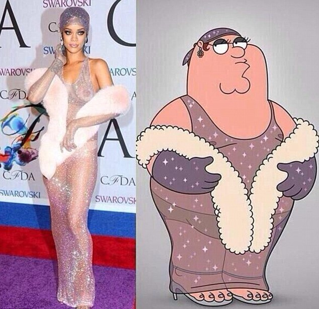 Family Guy's Peter Griffin Channels Rihanna in 'Naked ...
