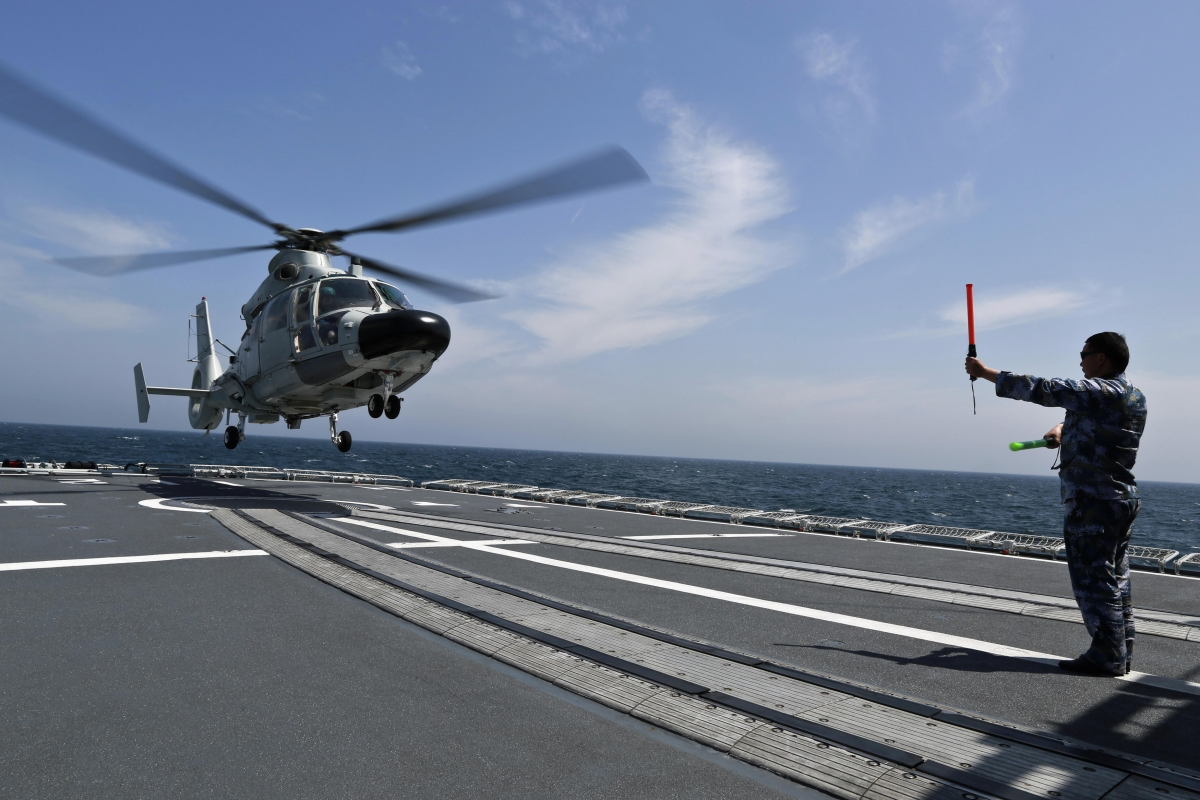 China navy helicopter