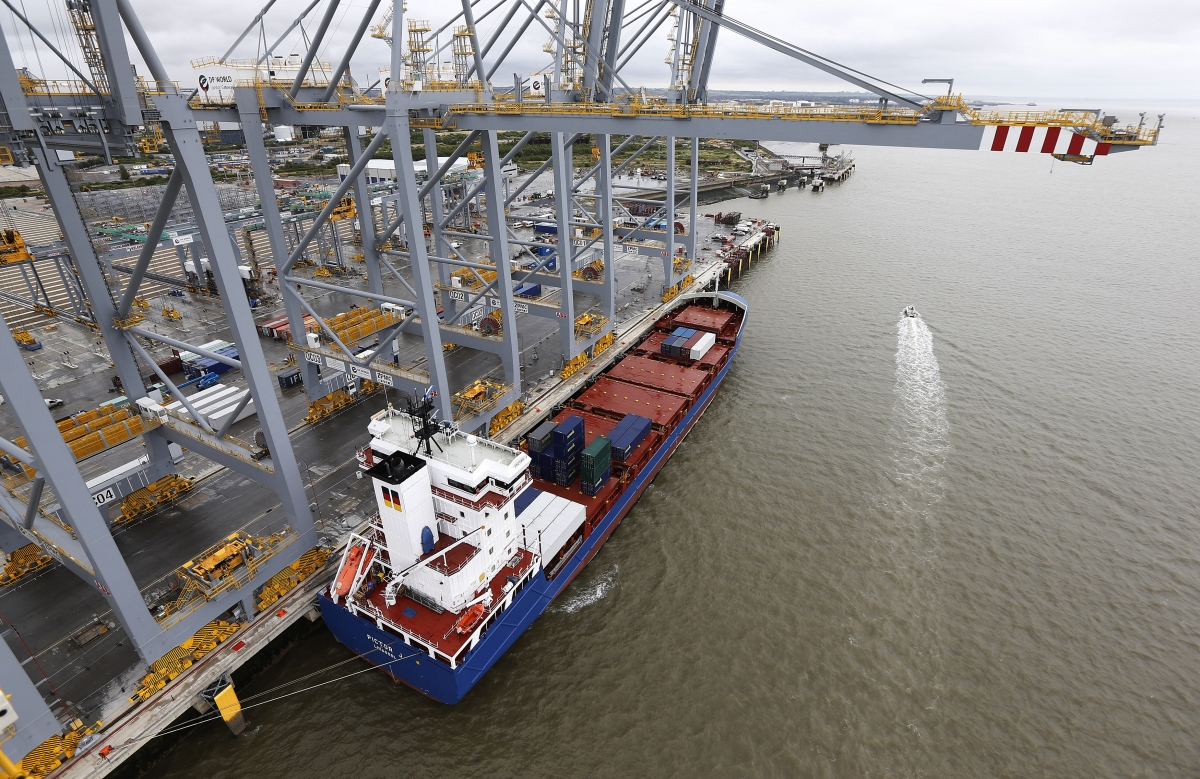 Shipping container London Gateway