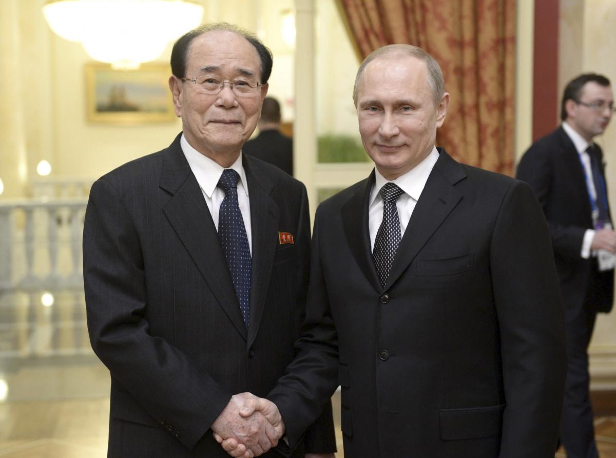 Vladimir Putin meets a North Korean official.