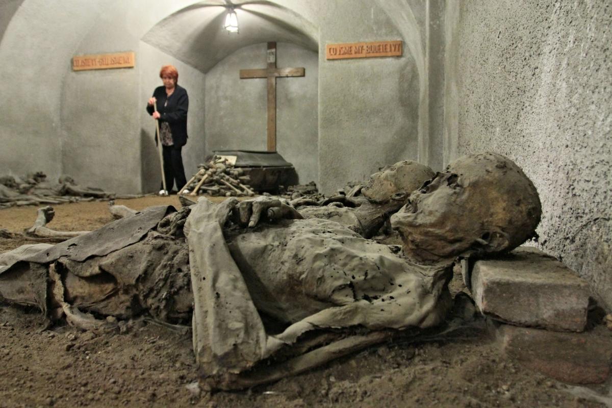 Czech Republic 18th Century Mummified Monks Holding