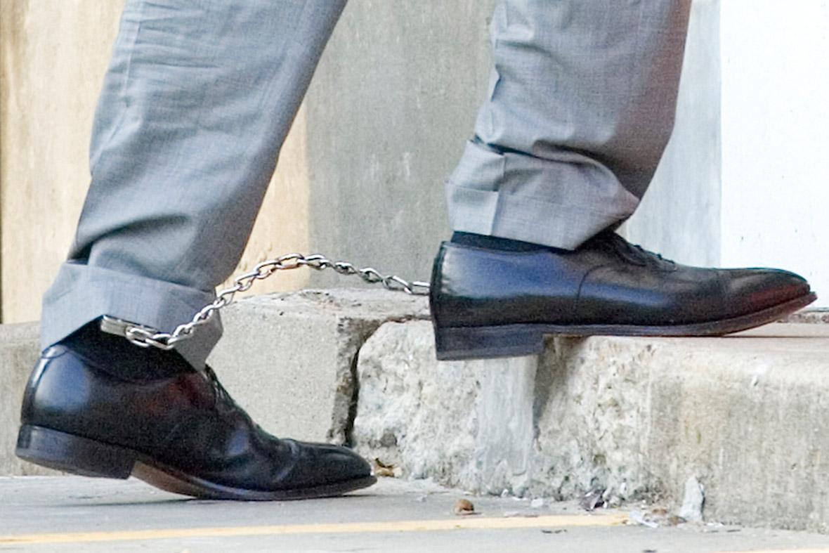feet shackled