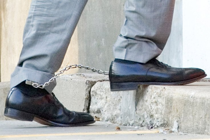 feet shackled