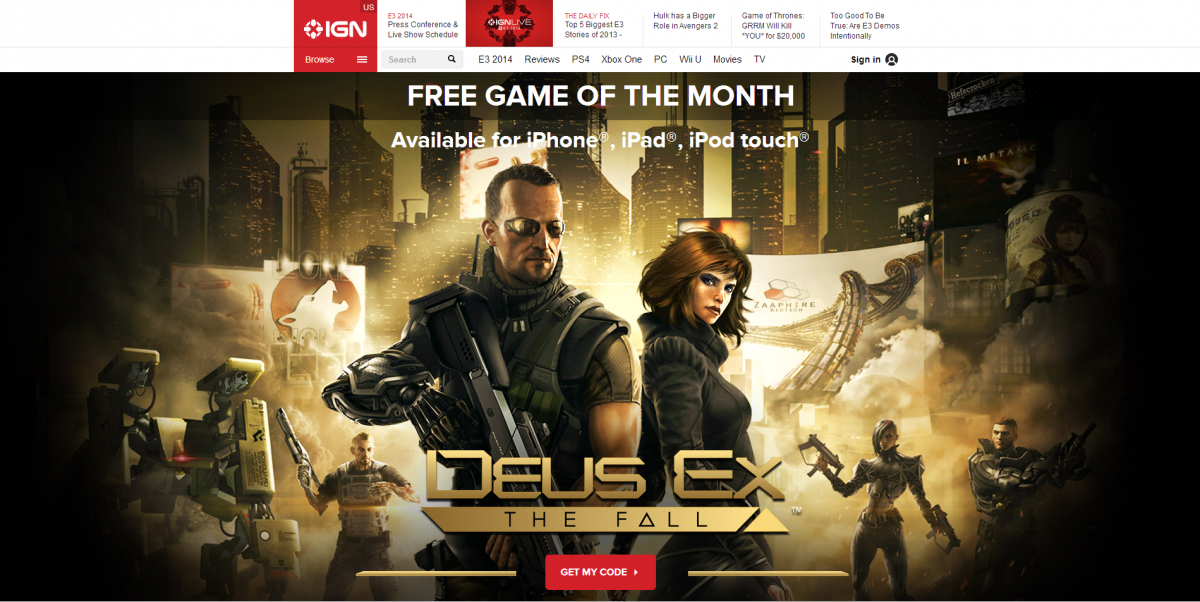 'Deus Ex: The Fall' for iOS Now Legally Available for Free