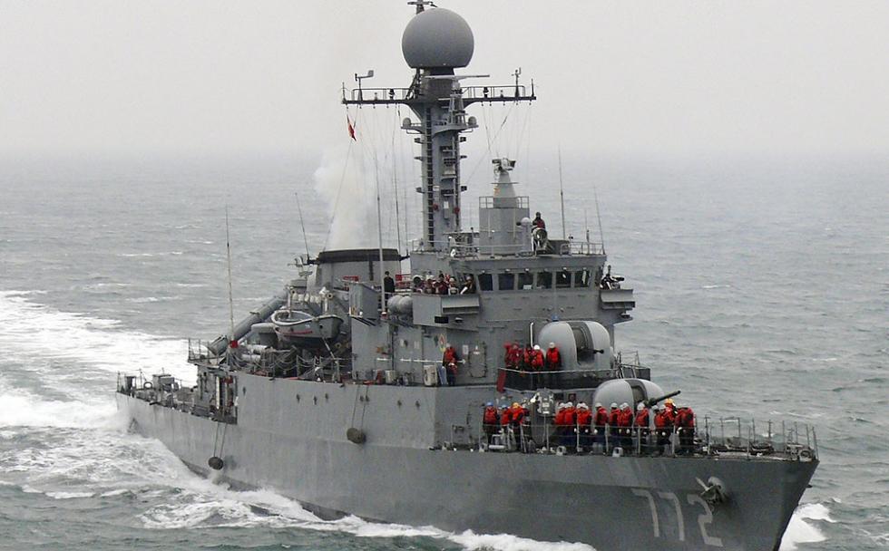 South Korean Navy corvette