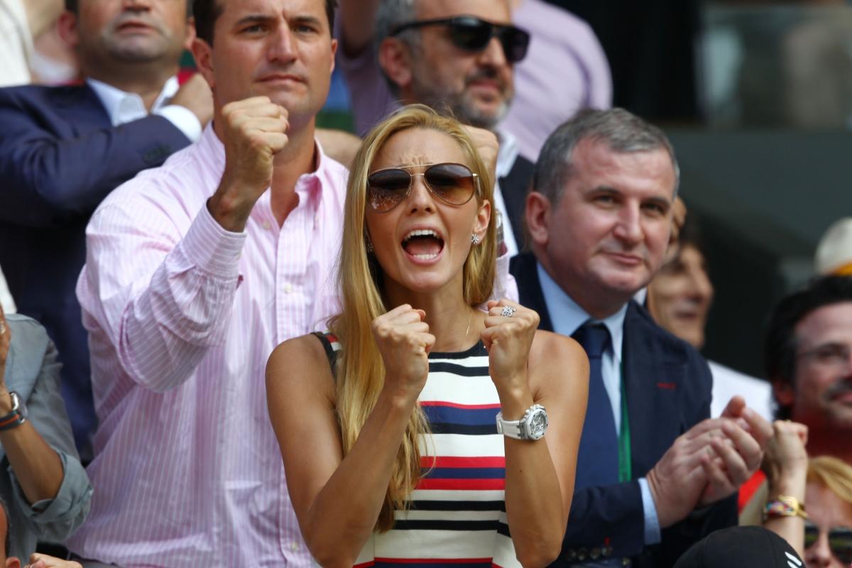 Ristic cheers on Djokovic in Wimbledon in 2007 (Getty)