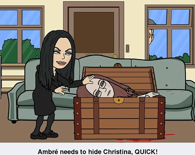 One of the memes which appeared online showing Lomas apparently trying to hide Harper's dead body in a wooden box.