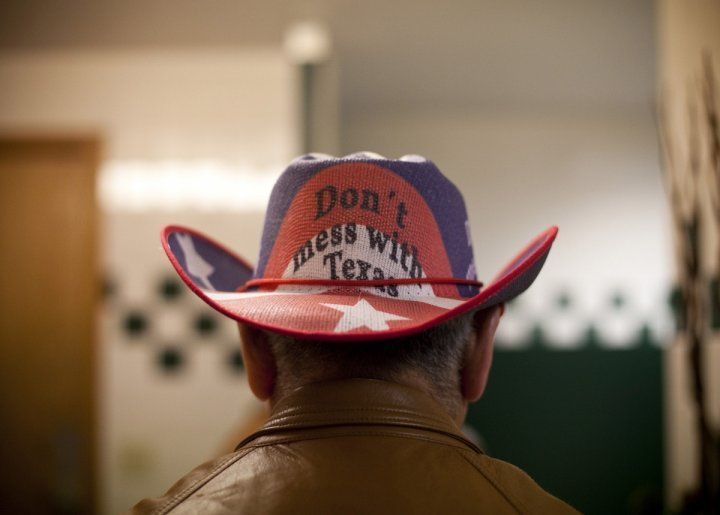 Republican supporter at a supporter (Getty)