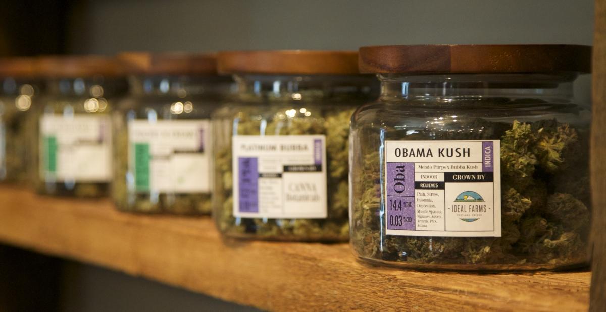 Jars of  marijuana in an Oregon dispensary. (Reuters)
