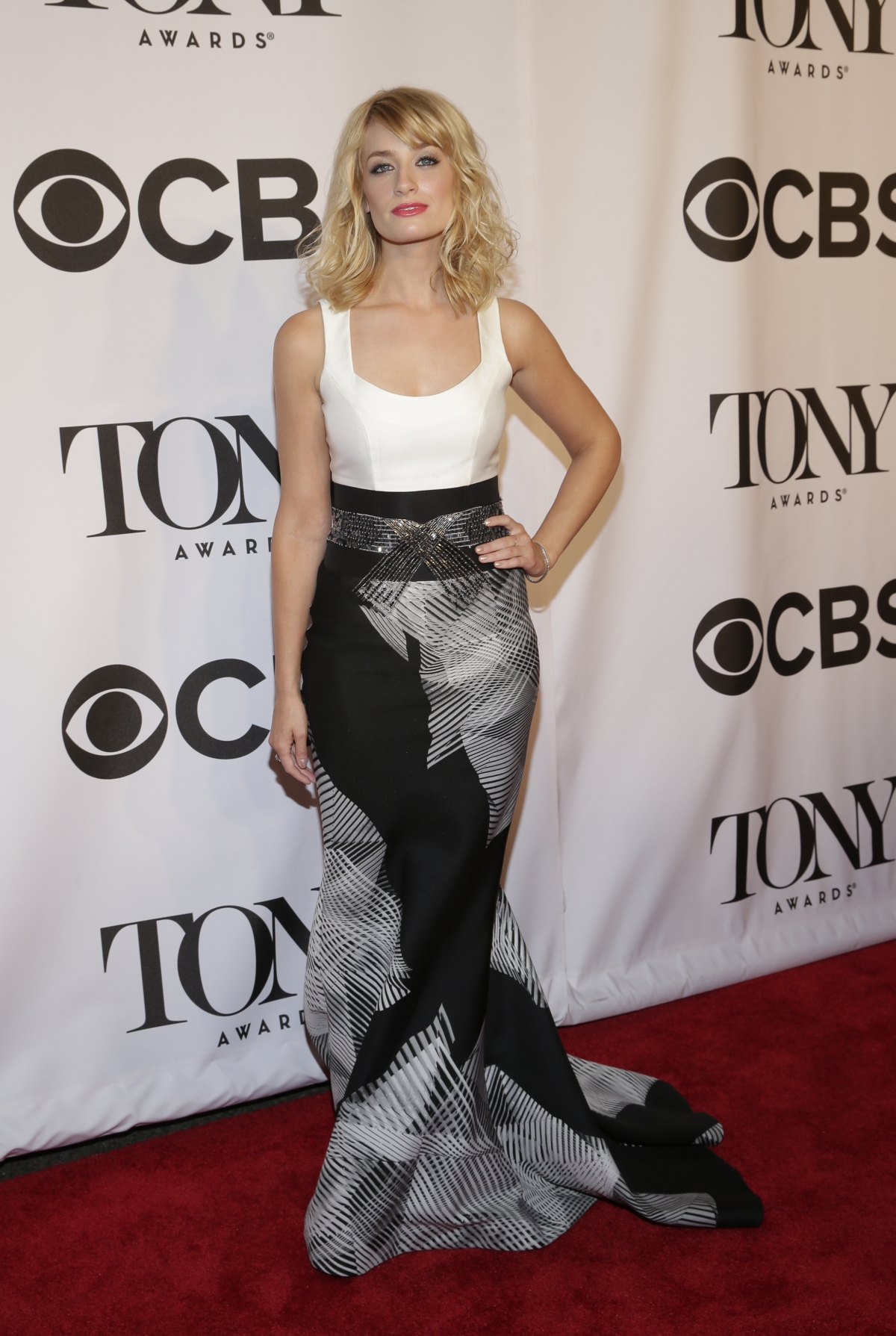 Actress Beth Behrs arrives for the American Theatre Wing's 68th annual Tony Awards at Radio City Music Hall in New York, June 8, 2014.