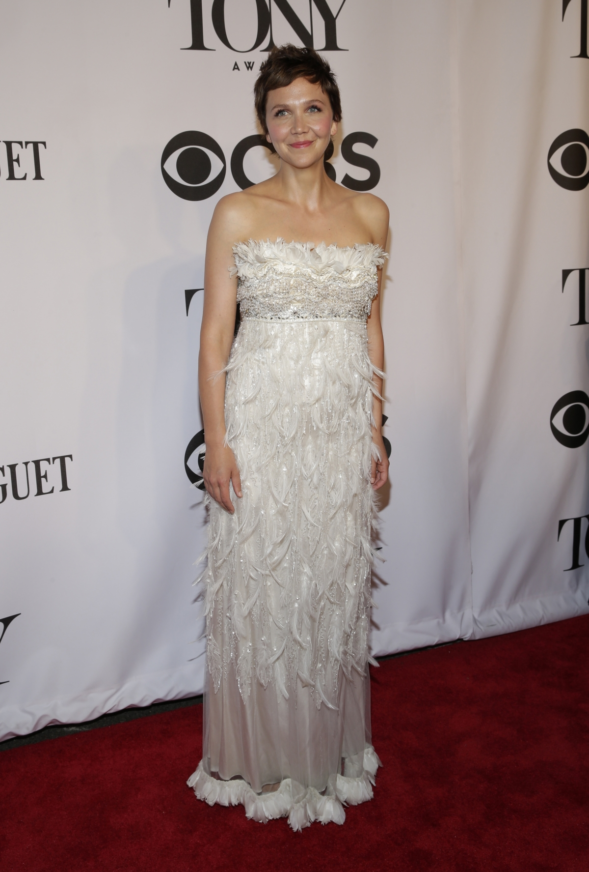 Actress Maggie Gyllenhaal arrives for the American Theatre Wing's 68th annual Tony Awards at Radio City Music Hall in New York, June 8, 2014.