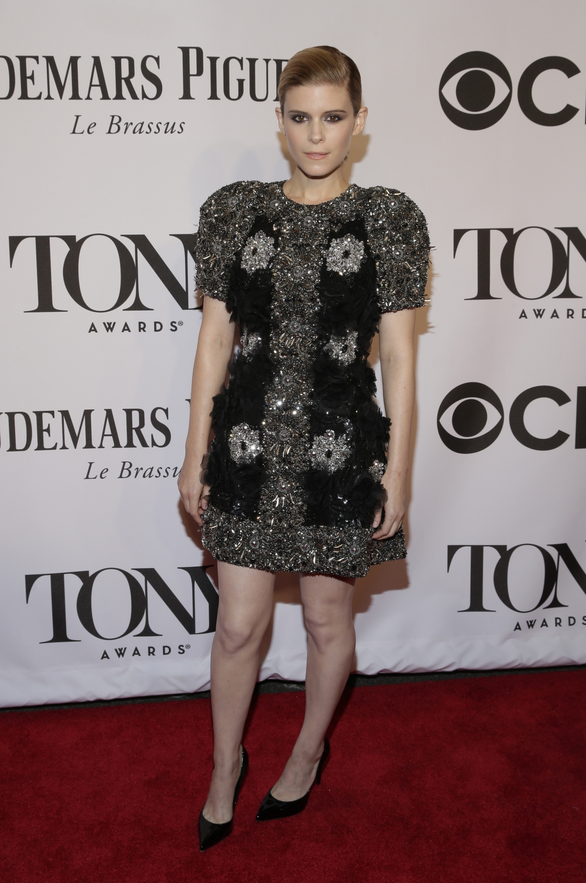 Actress Kate Mara arrives for the American Theatre Wing's 68th annual Tony Awards at Radio City Music Hall in New York, June 8, 2014.
