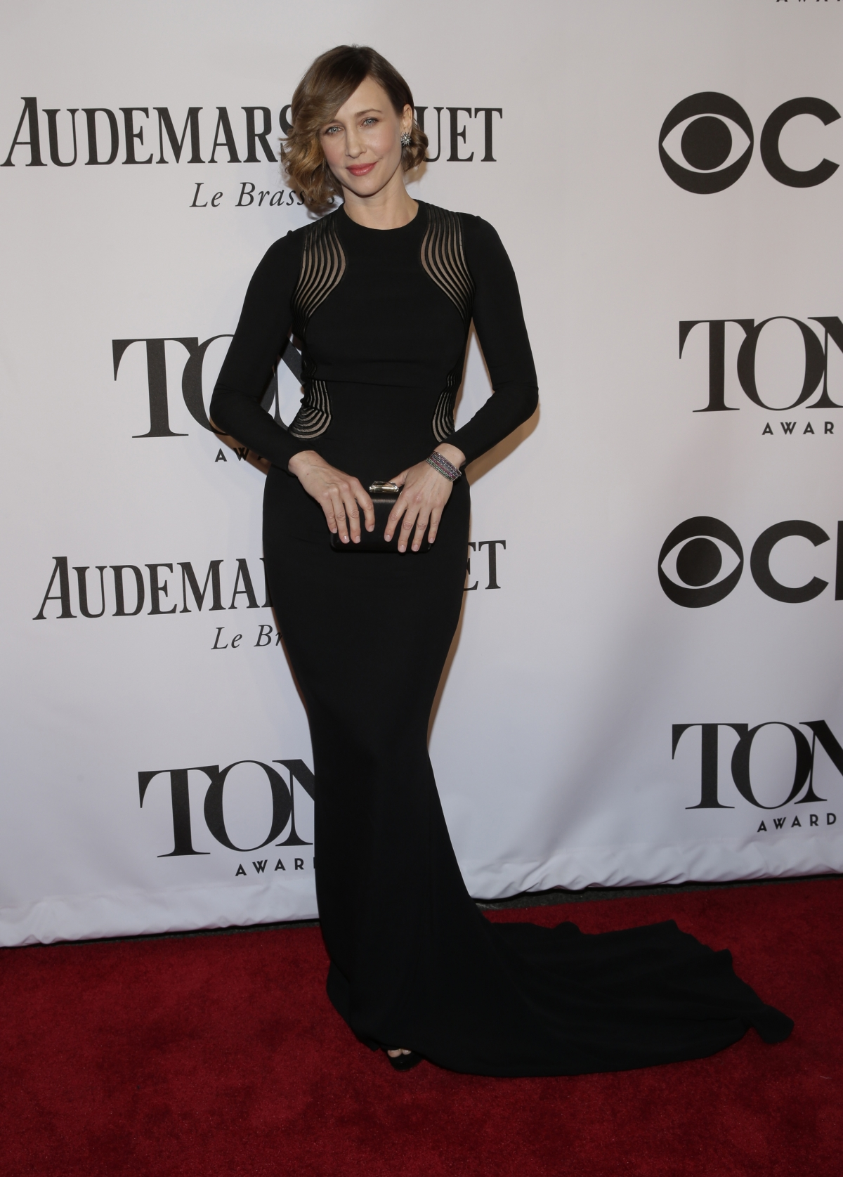 Actress Vera Farmiga arrives for the American Theatre Wing's 68th annual Tony Awards at Radio City Music Hall in New York, June 8, 2014.