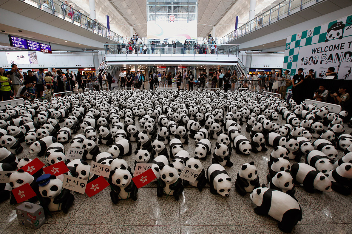 panda sculptures
