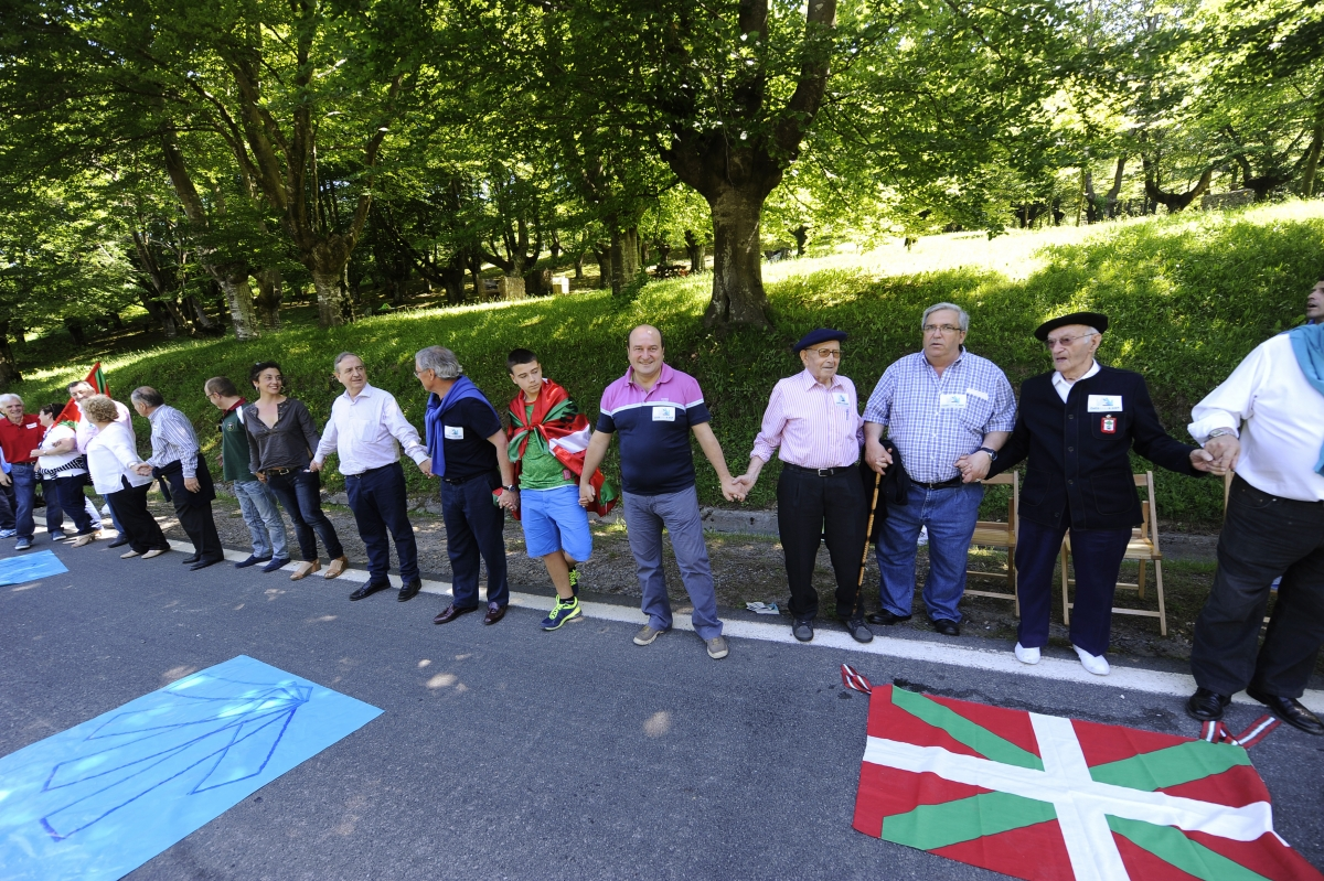 Basques Form Human Chain Demanding Independence Vote
