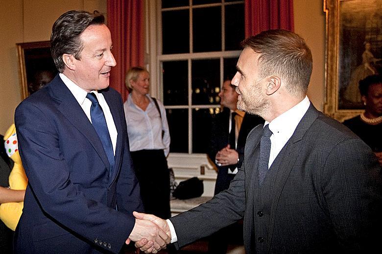 Gary Barlow meets David Cameron