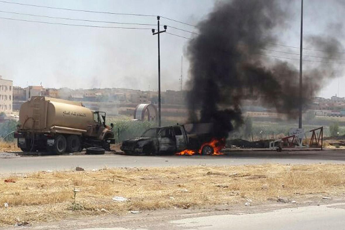 burning vehicles