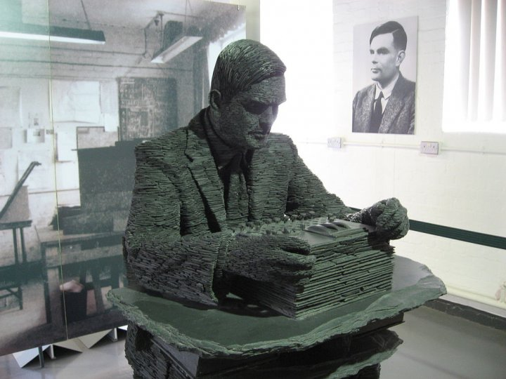 Alan Turing sculpture at Bletchley Park