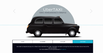 UberTaxi Launched in London