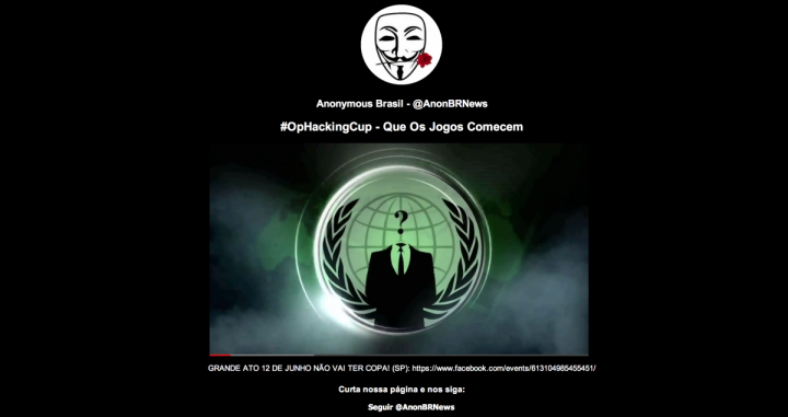Anonymous OpHackingCup World Cup Hacking Campaign