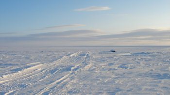 An example of an Arctic ice trail used by the Inuits
