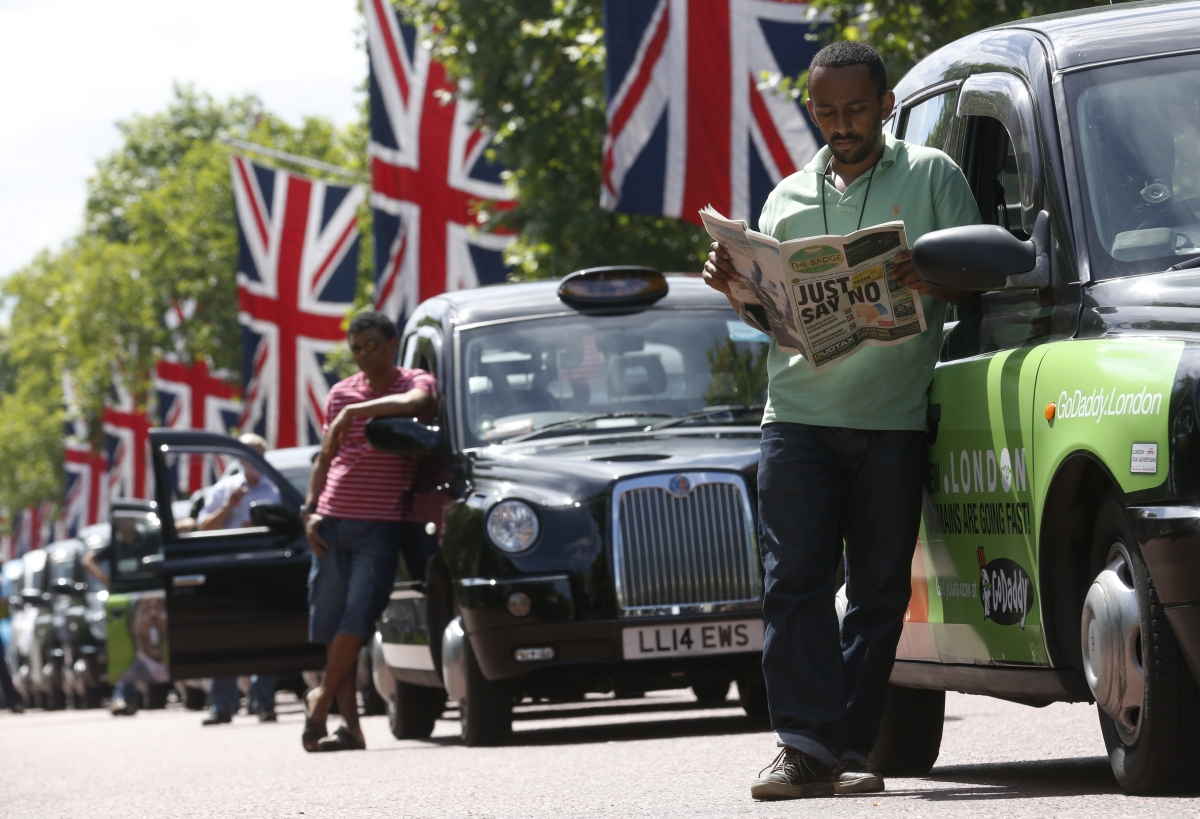 London Black Cab Protest Uber Regulation