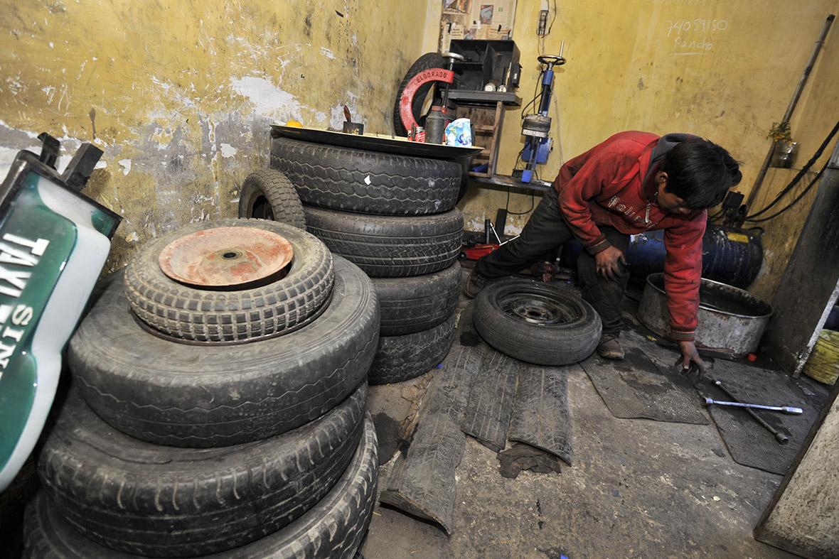 bolivia tyres child labour