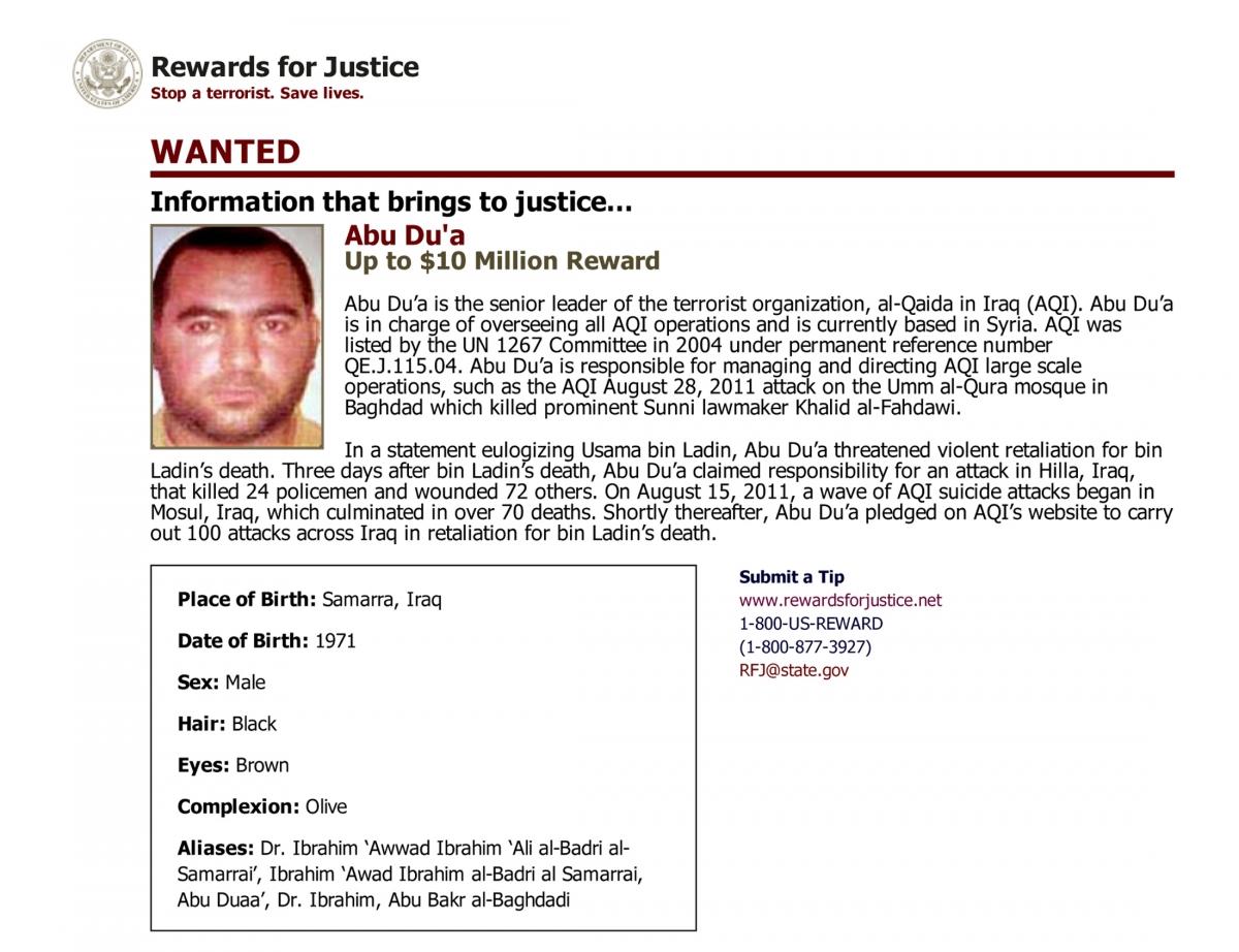 Abu Bakr al-Baghdadi ISIS Boss