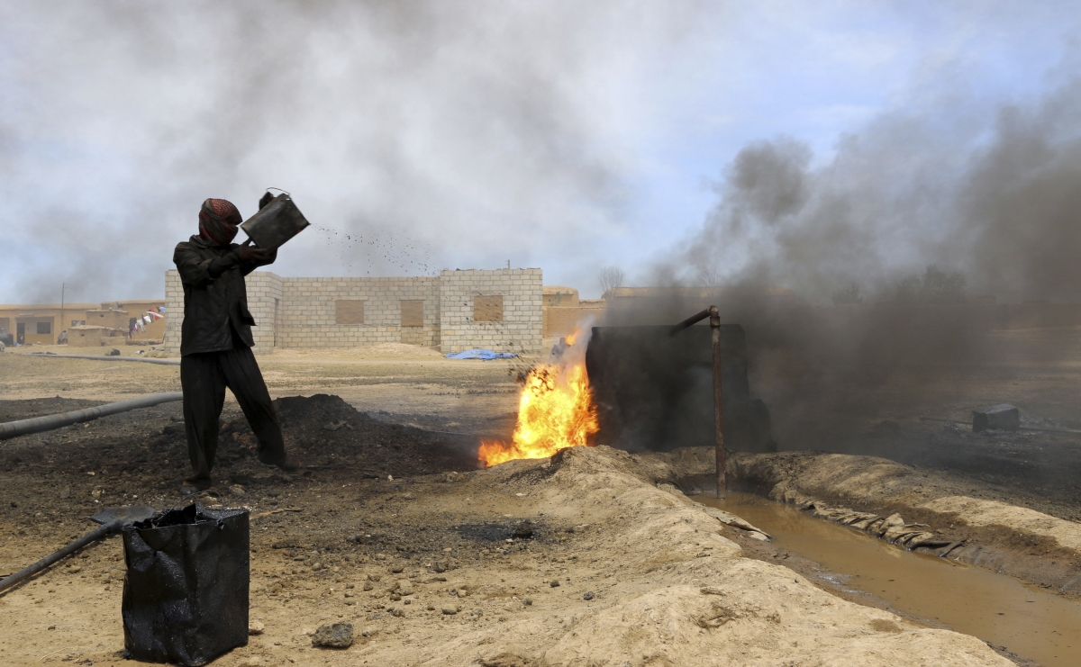 Kurdish oil refinery