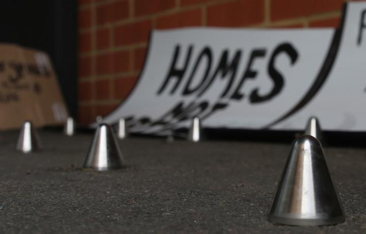 homeless spikes