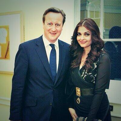 Aishwarya Rai with David Cameron