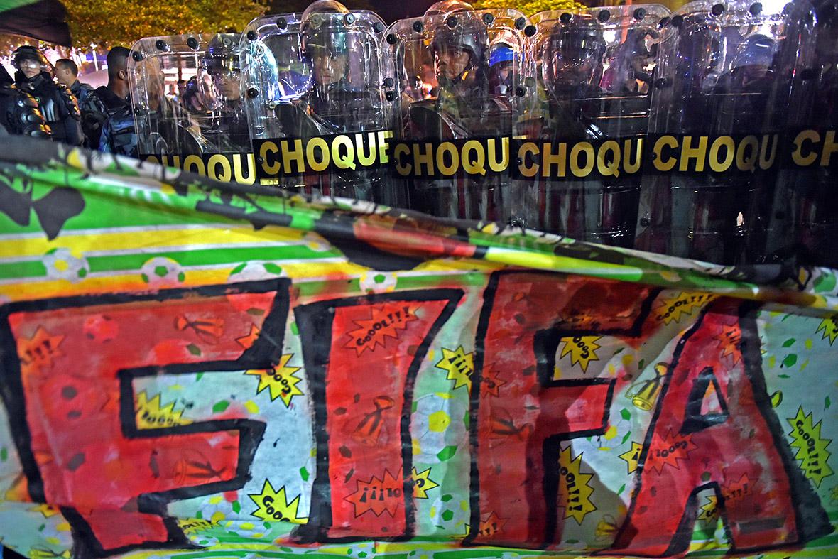world cup protests brazil 2014 Rio de Janeiro