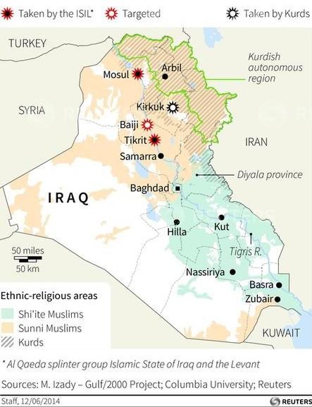 Iraq Crisis Map